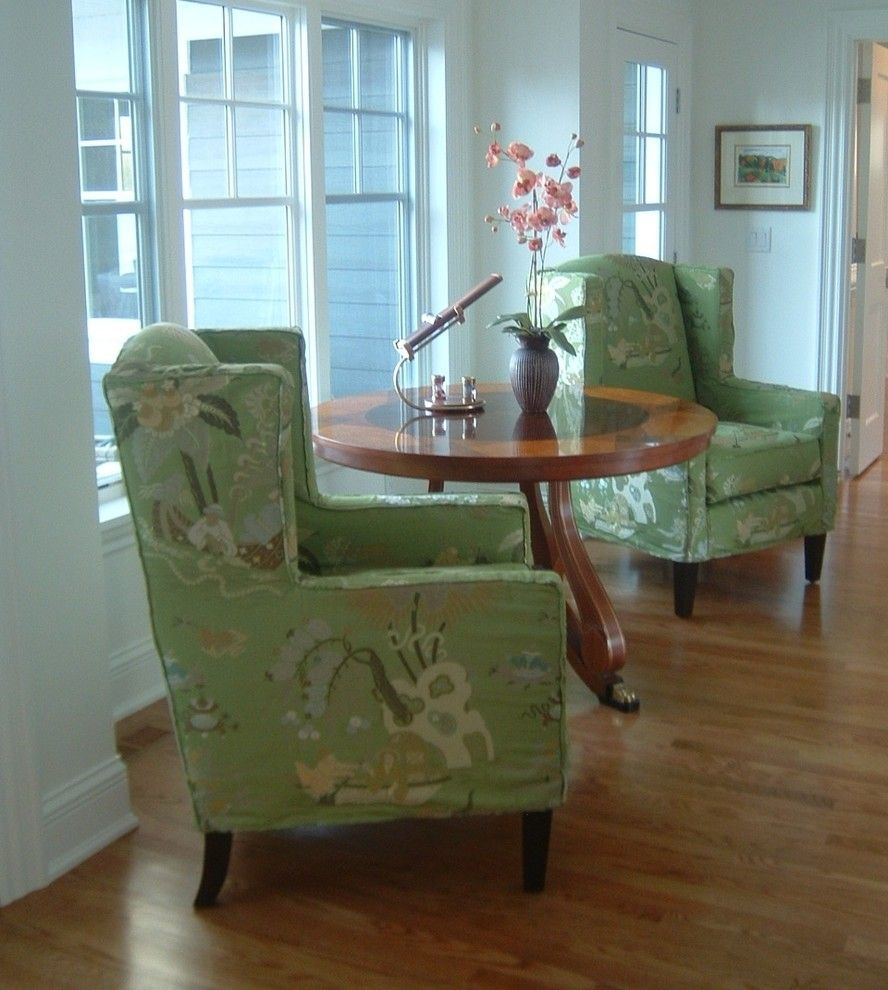 Attractive Chic Wingback Chair Slipcover In Living Room Traditional With Armless Chair  Slipcover Next To Rollback Chair Part 18