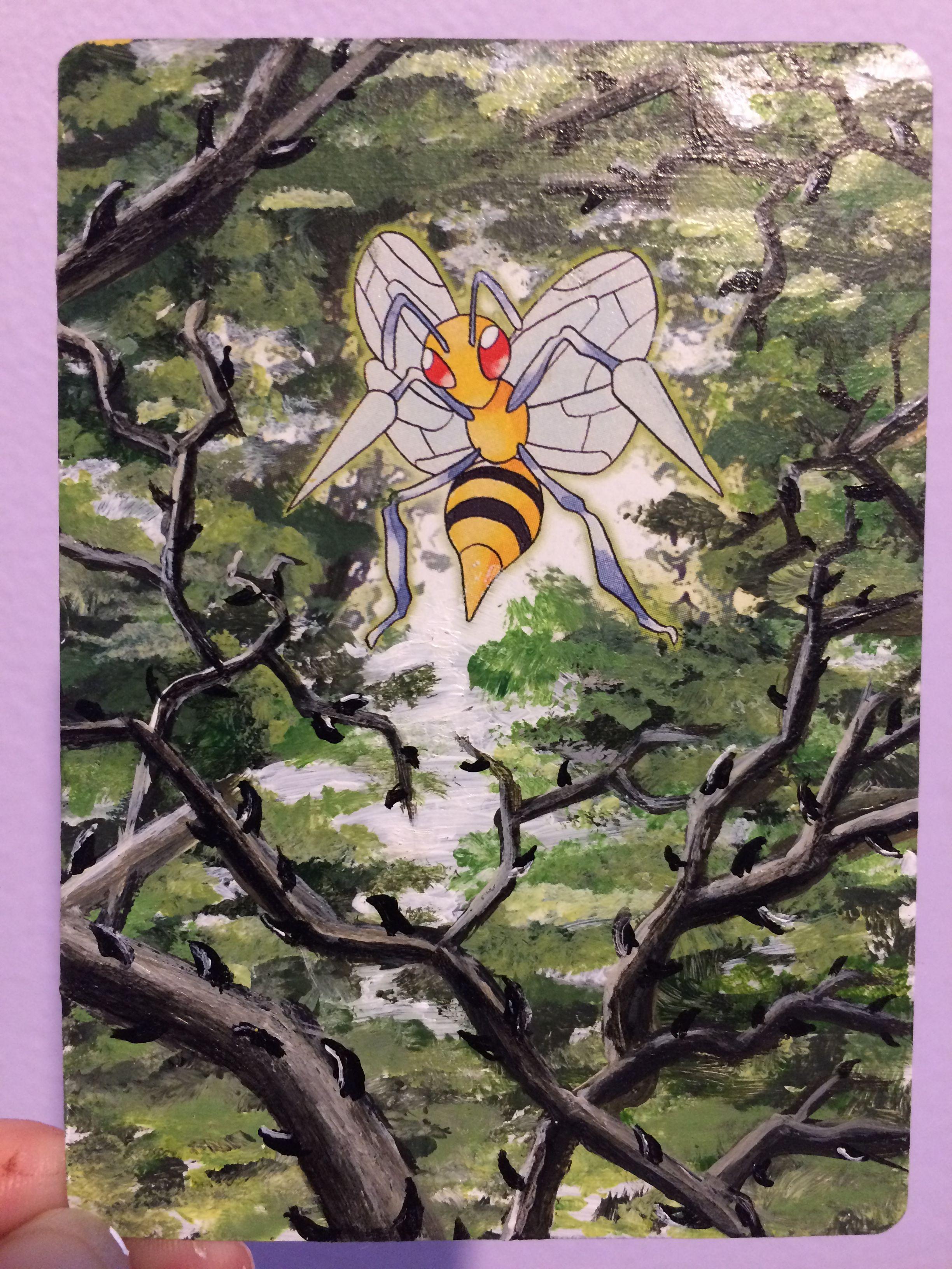 Beedrill extended art pokemon card art pokemon art