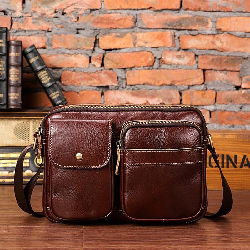 Cool Mens Leather Messenger Bag Small Shoulder Bag Crossbody Bag for m –  iwalletsmen 49fa129ce4
