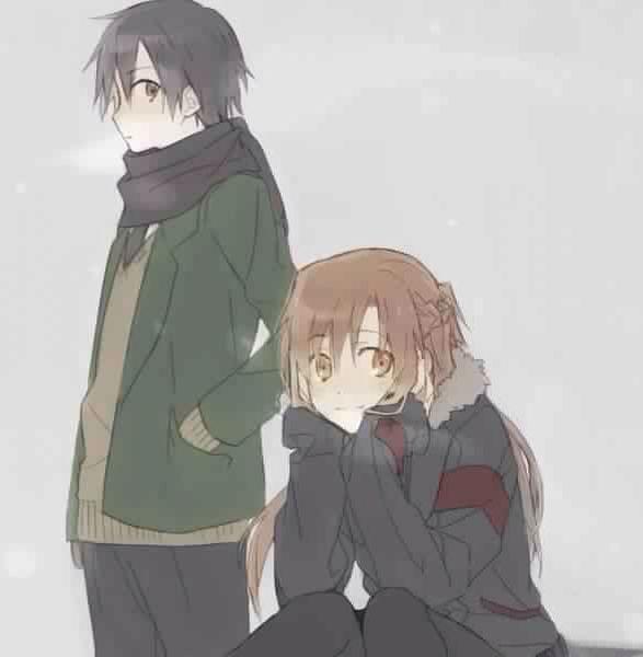 Kirito and Asuna    _Sword Art Online