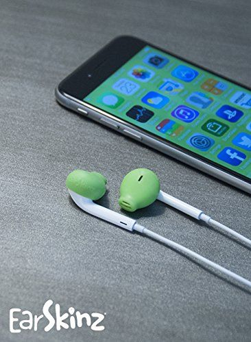 9b6e5860b58 EarSkinz EarPod Covers (ES2) - Lime - for Apple iPhone 6S / 6 / 5S ...