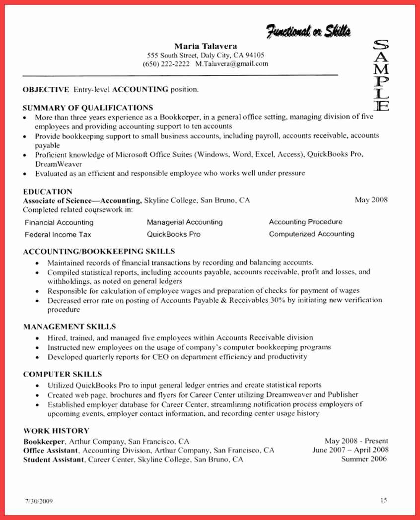 Skills Based Resume Template Free Lovely Puter Proficiency Resume