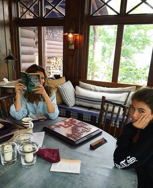 Kaia Gerber and her mom