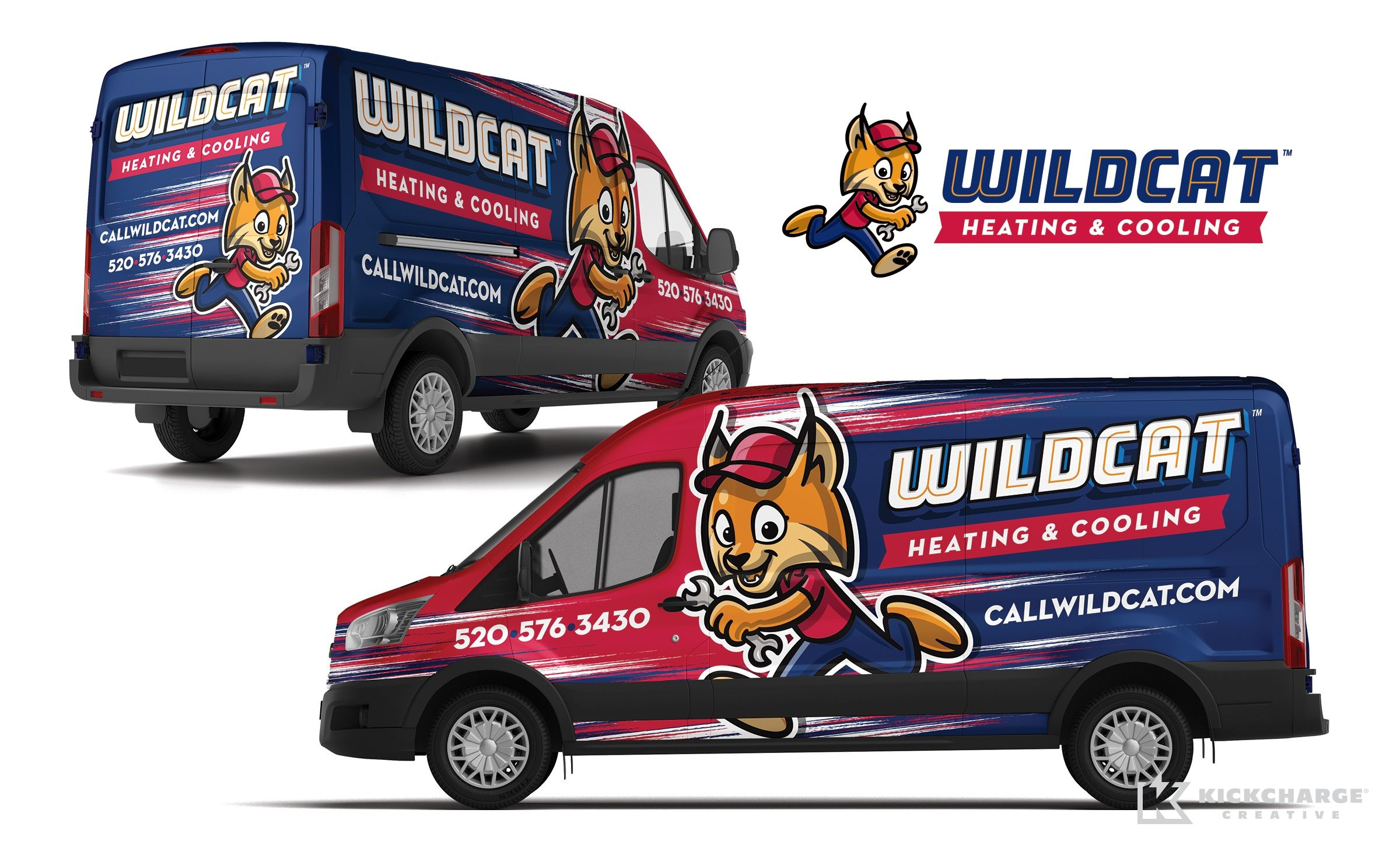 Wildcat Heating Cooling Kickcharge Creative In 2020 Car Wrap