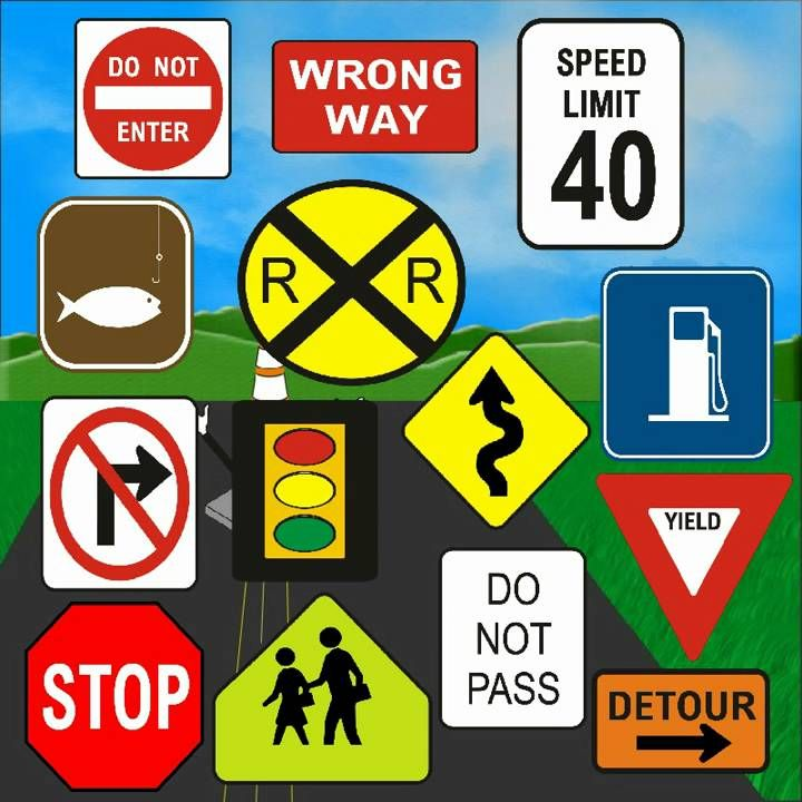 song: Traffic Signs -scroll past book ad | June - Safety ...