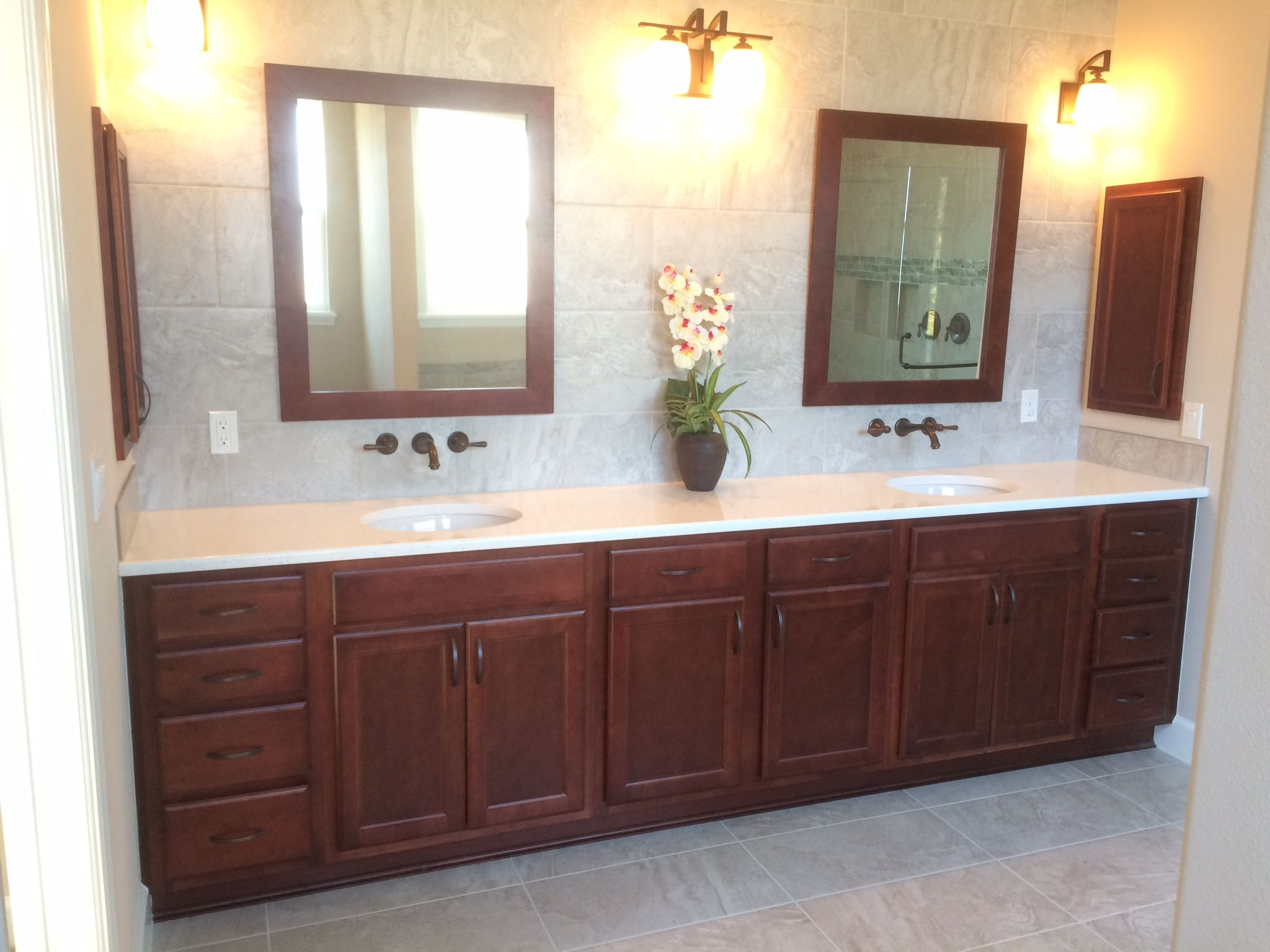 From Spec Home Delete Medicine Cabinets Use Larger Mirrors Lower Sconces 120 Vanity 30x36 Mirrors Vanity Bathroom Vanity Large Mirror [ 1536 x 2048 Pixel ]