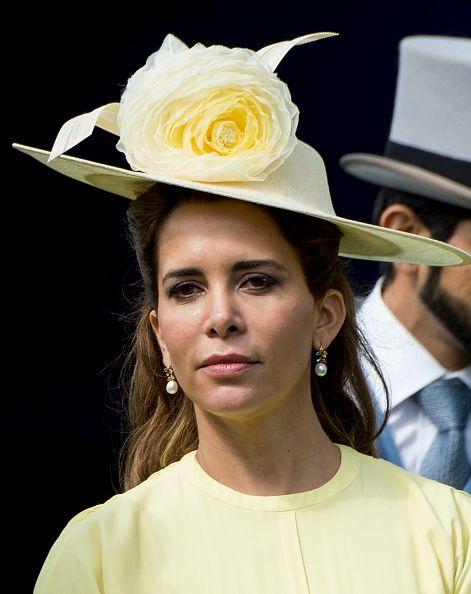 Princess Haya Dint Al Hussein attends Derby Day at Epsom Derby - Royal Hats - Royal Family Around the World