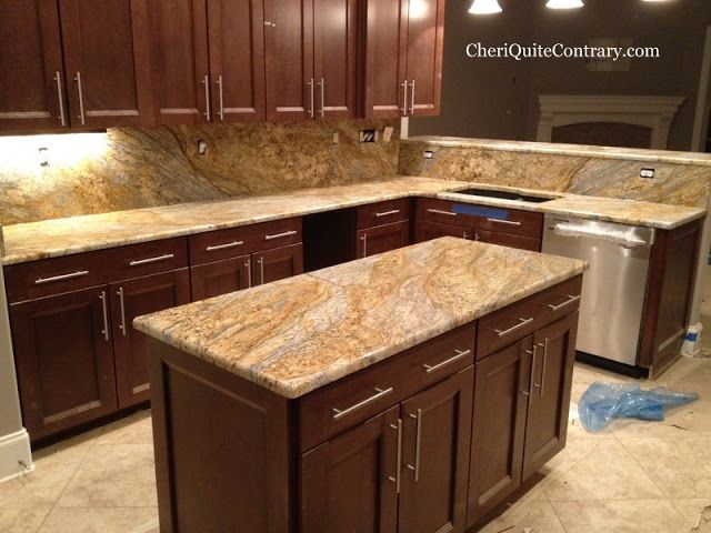 House Building Yellow River Granite Is Installed Countertops Building A House Kitchen Remodel
