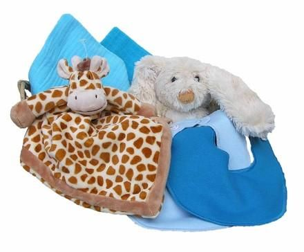 Personalized Giraffe Gift Basket (turquoise, small) - PetitePeople, Gift Basket