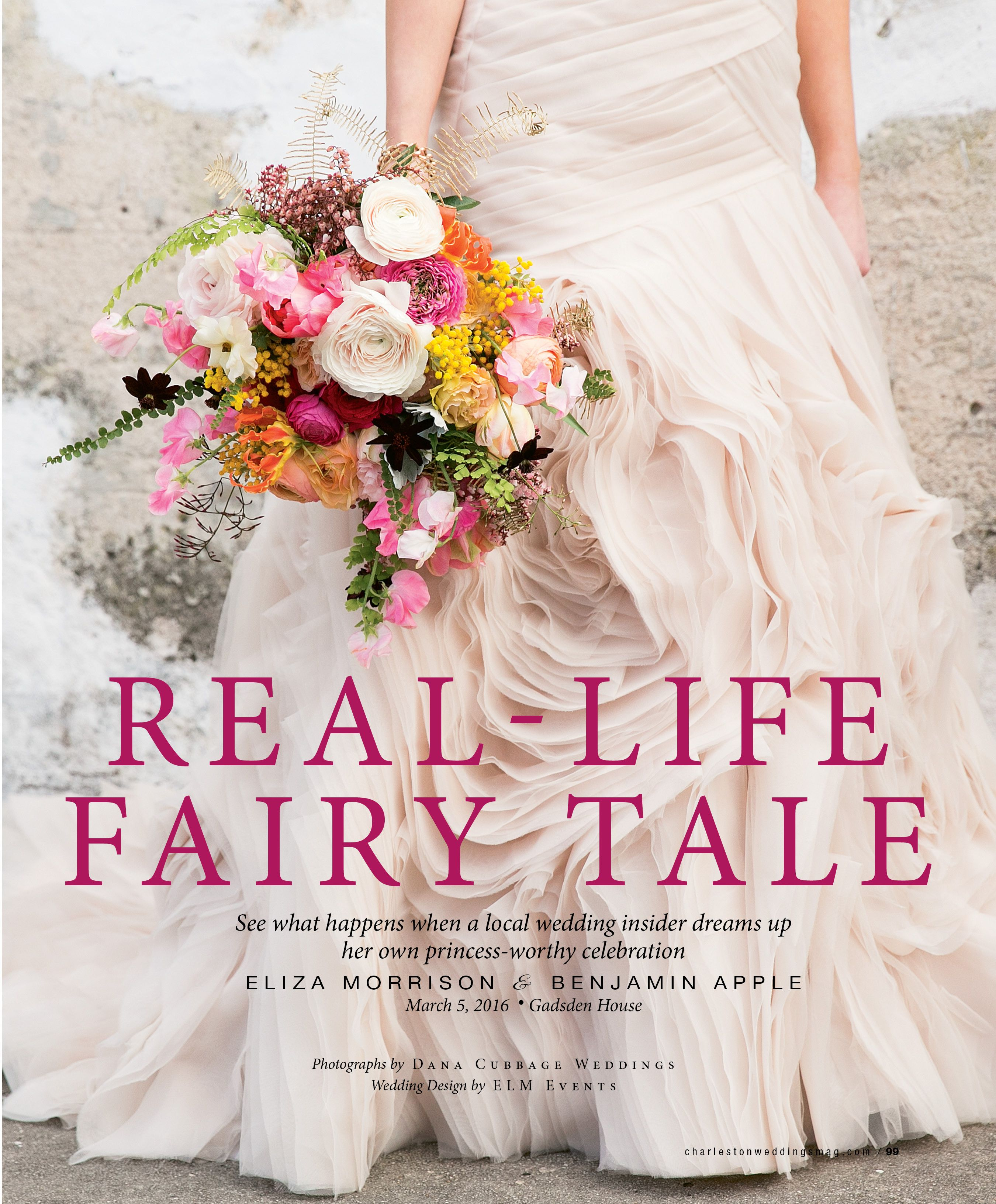 Our Lovely Bride Eliza On The Cover Of Charleston Weddings