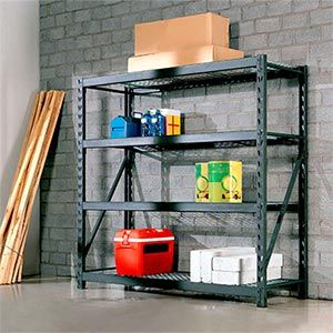 I bought one of these heavy duty shelving units at Costco. They are ...