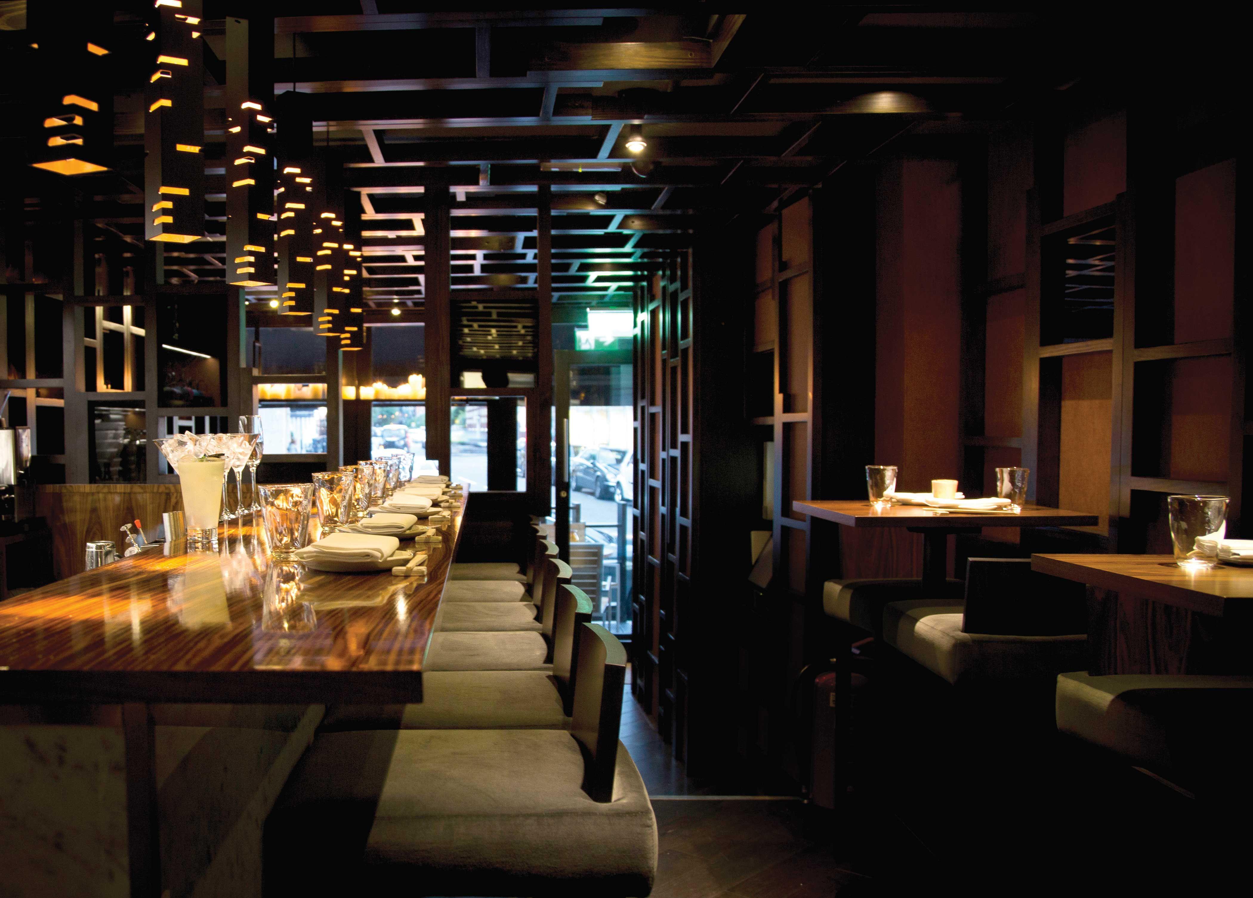 Bo Lang dim sum restaurant. Chelsea. Interior design: Shaun Clarkson ID