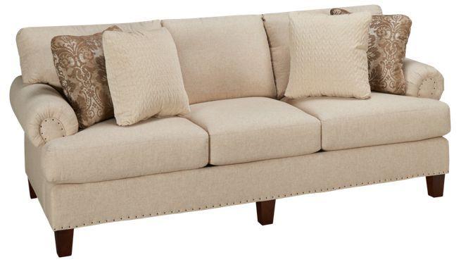Craftmaster Furniture Ue Roll Arm Sofa With Nailhead Jordan S Furniture Craftmaster Furniture Furniture Custom Sofa
