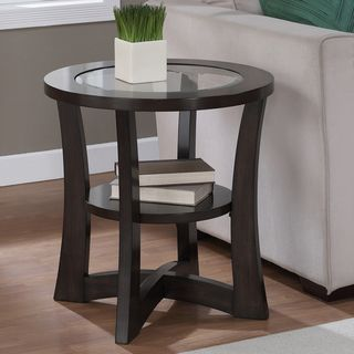 round glass end tables. Eclipse Espresso Glass Top End Table - Overstock™ Shopping Great Deals On Coffee, Round Tables N