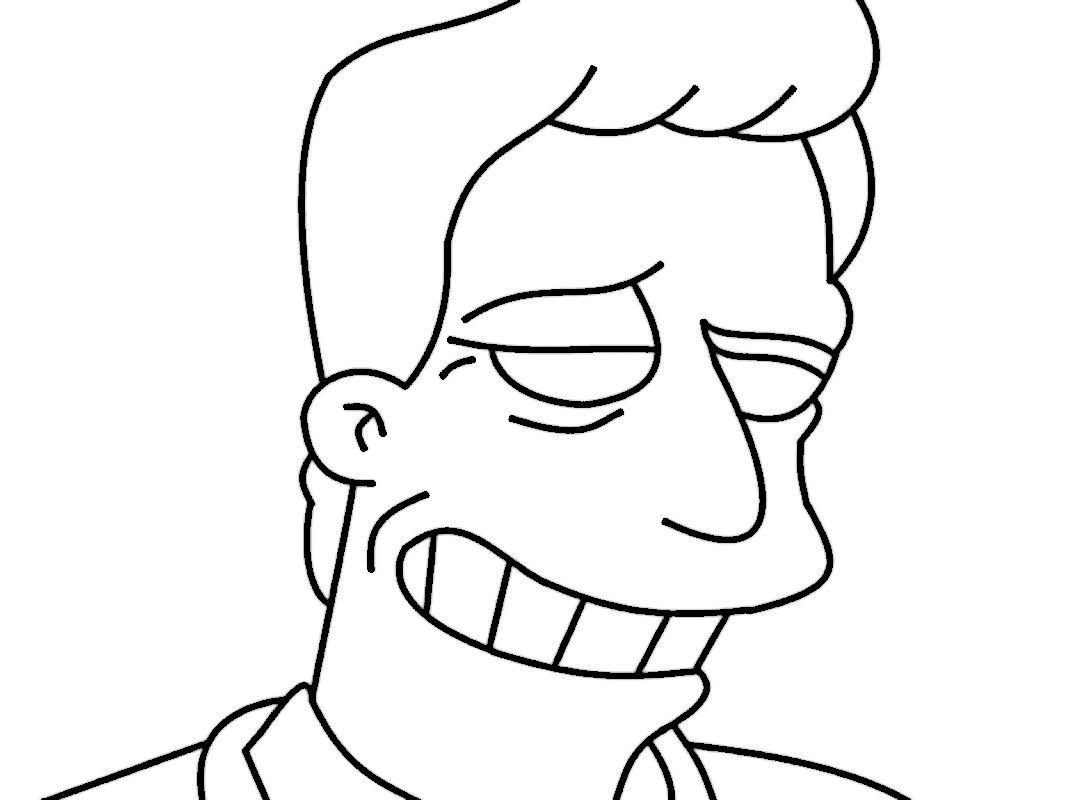 Dibujos para Colorear Los Simpsons 41 | coloring pages The Simpsons ...
