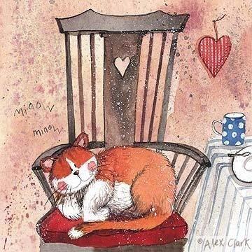 'Cat Chair' by Alex Clark (E070)