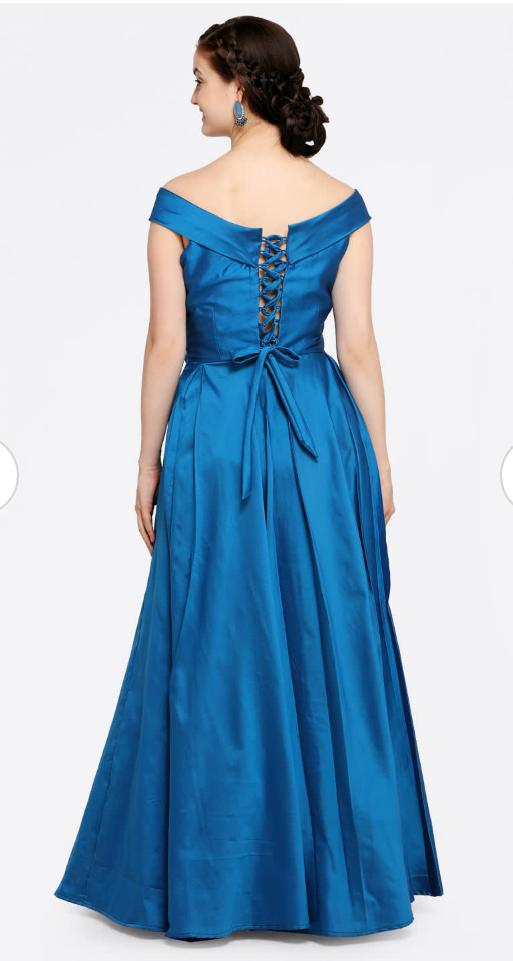2f3b03b1af19a royal blue dress purchase it on myntra