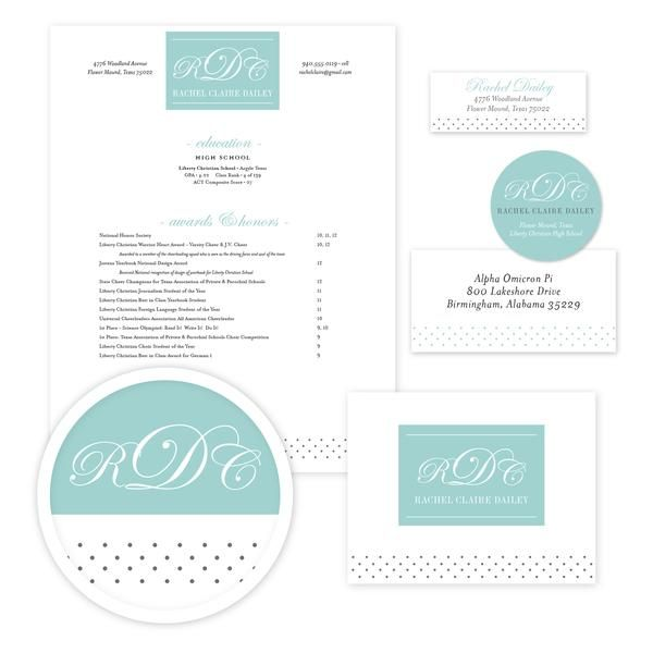 Monogram Block Sorority Packet  Our Complete Sorority Packets