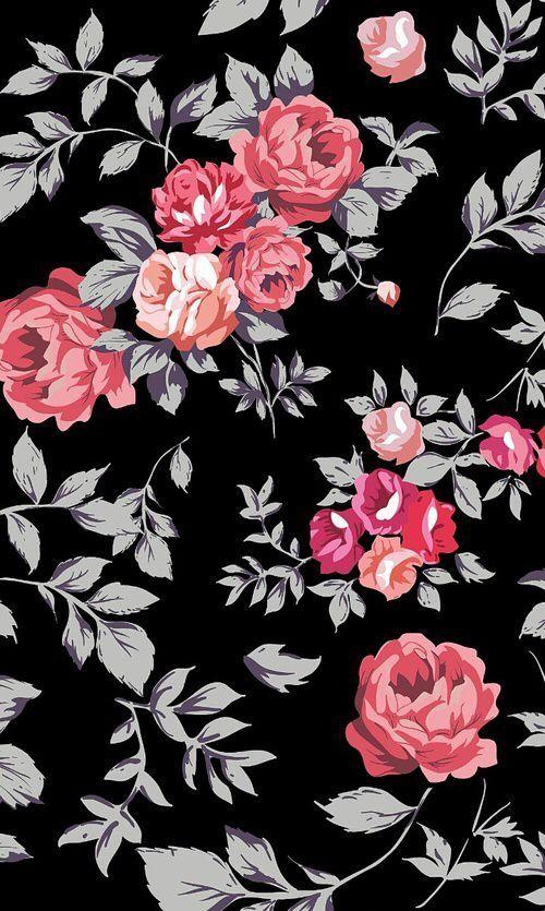 Vintage Flowers Wallpaper Flower Phone Boho Floral Desktop Mobile Iphone Backgrounds