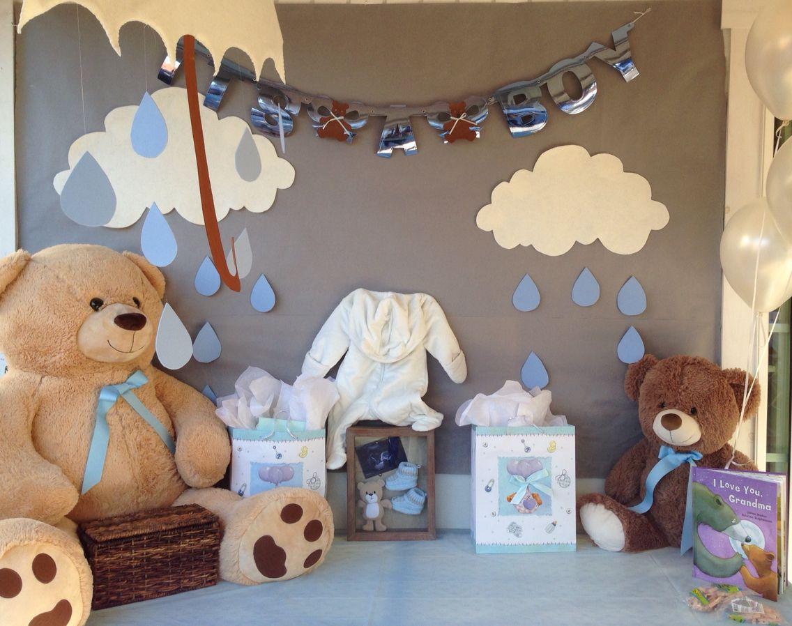 Baby bear theme shower for boy baby shower pinterest - Imagenes de nubes infantiles ...