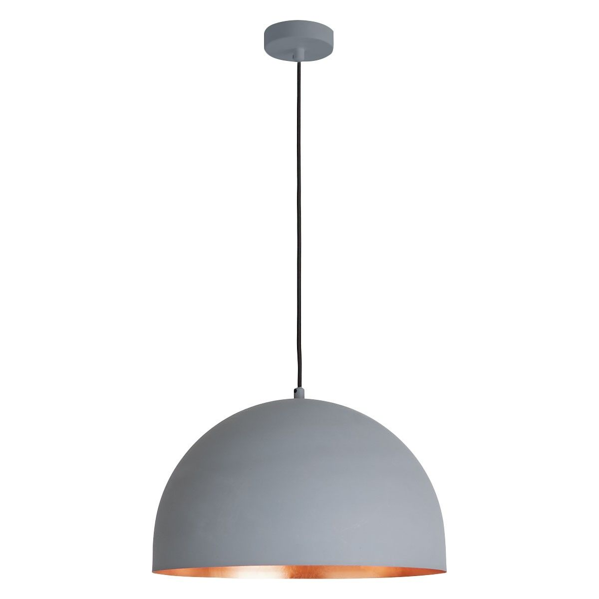 EAST Grey And Copper Metal Ceiling Light