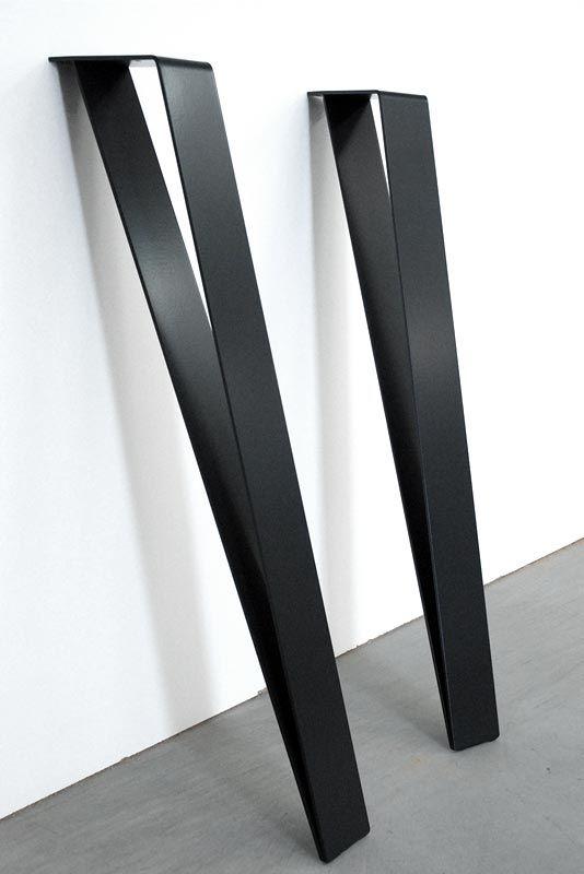 pied metal noir design dpsmt graf k tables et pi tements. Black Bedroom Furniture Sets. Home Design Ideas