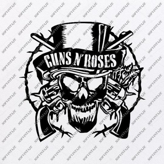Guns N Roses Svg File Guns N Roses Svg Design Clipart Music Svg File Music Png Vector Graphics Svg For Cricut For Silhouette Svg Eps Pdf Dxf Png Vector Graphics