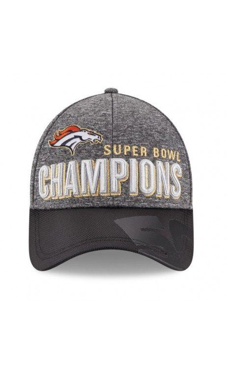 3bd019909 NFL Youth Denver Broncos New Era Heather Gray/Black Super Bowl 50 Champions  Trophy Collection Locker Room 9FORTY Adjustable Hat #SB50 #football