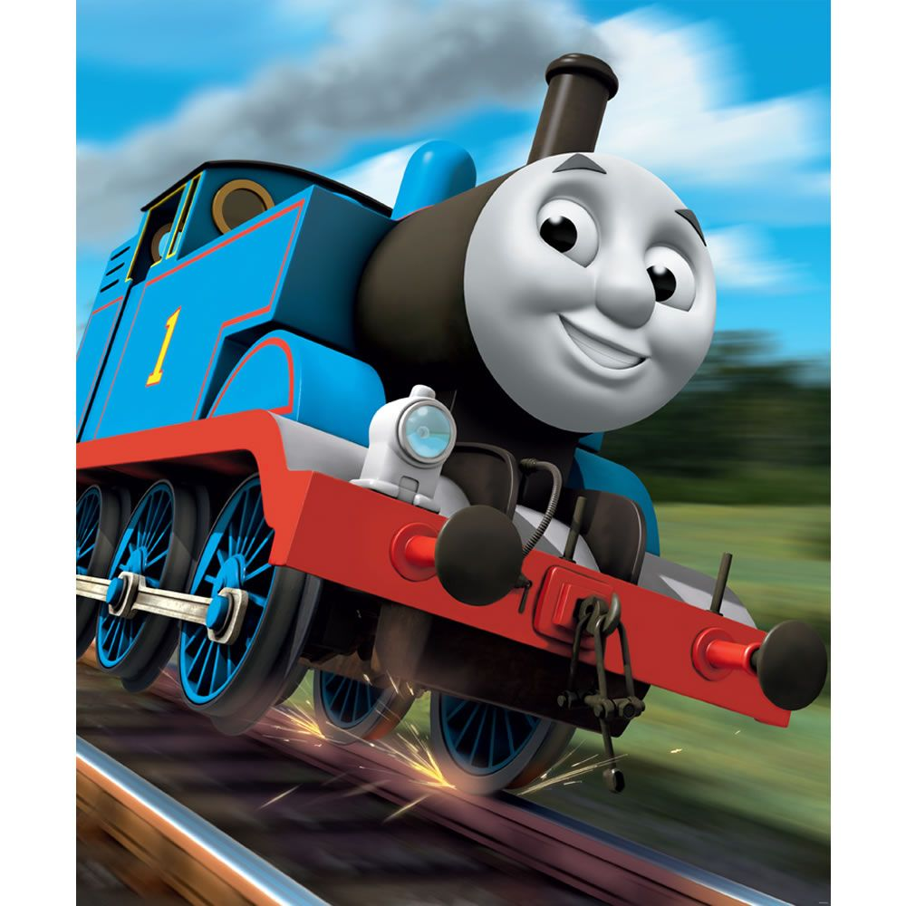 walltastic thomas the tank engine wallpaper mural 8ft x. Black Bedroom Furniture Sets. Home Design Ideas