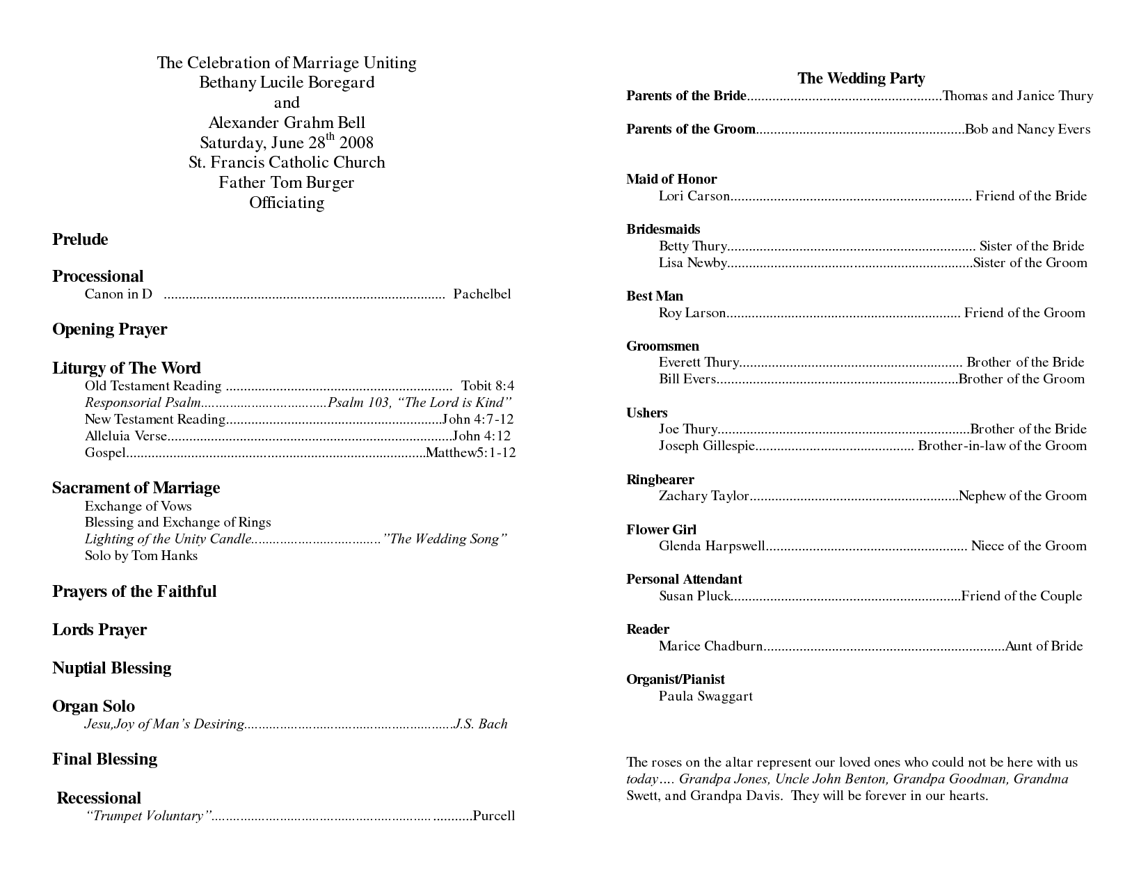 Wedding Program Sample Template Doc   Wedding Program Sheets