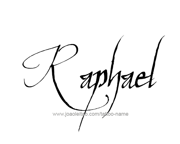 Tattoo Design Angel Name Raphael