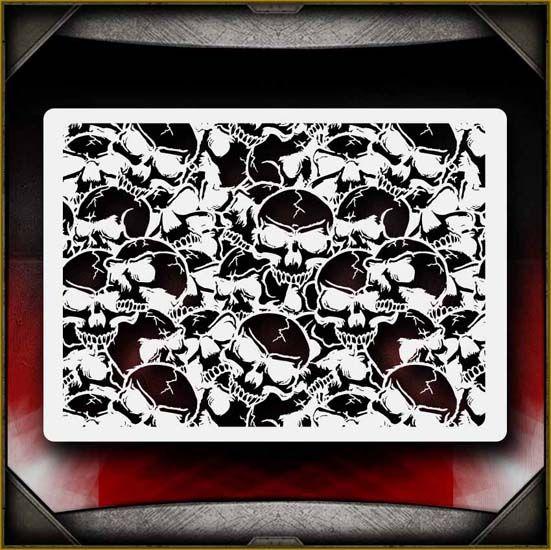 Motorhead Airbrush Stencil Template Airsick