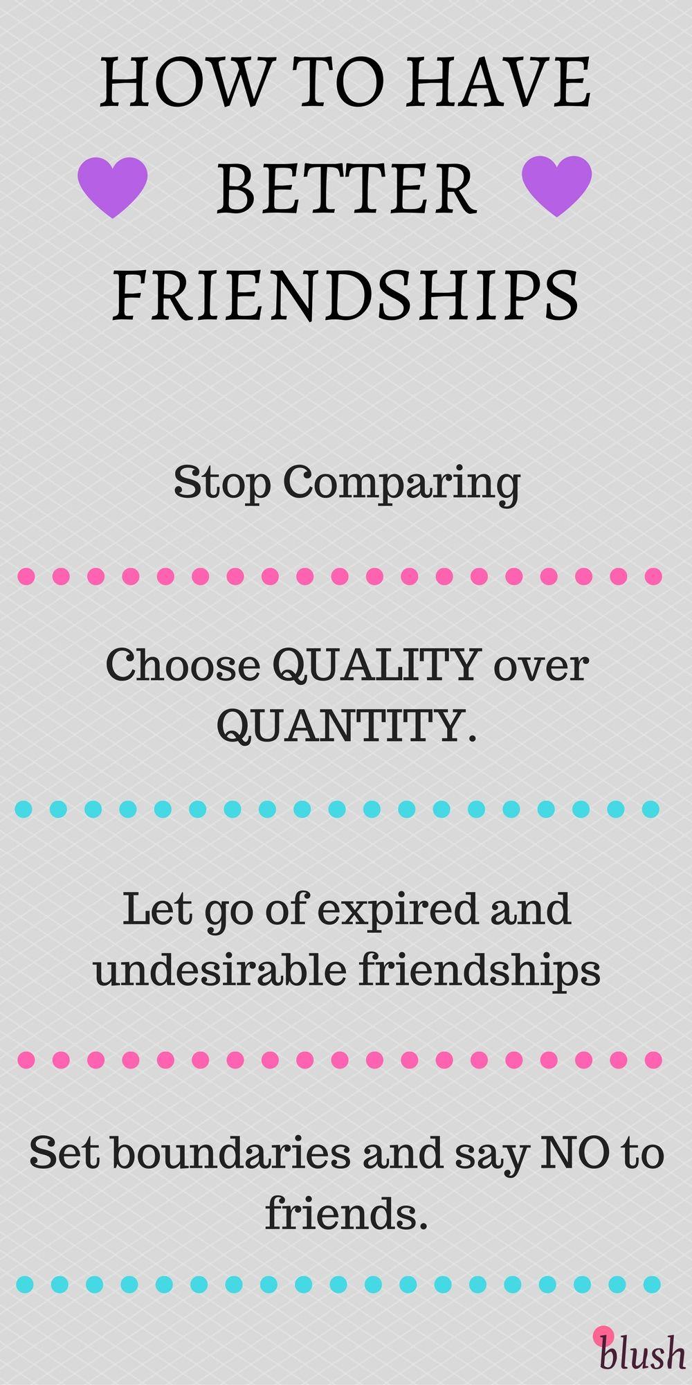 How to Have Better Friendships   Best friendship, Short ...