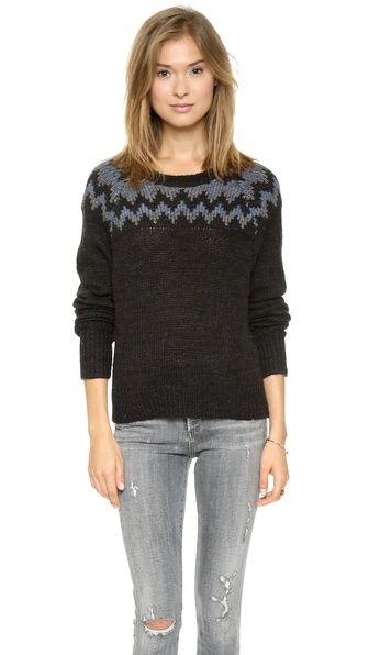 Pam & Gela Fair Isle Boxy Sweater