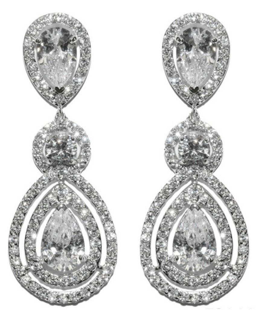 Louisa clear pear halo chandelier earrings cubic zirconia louisa clear pear halo chandelier earrings cubic zirconia arubaitofo Choice Image