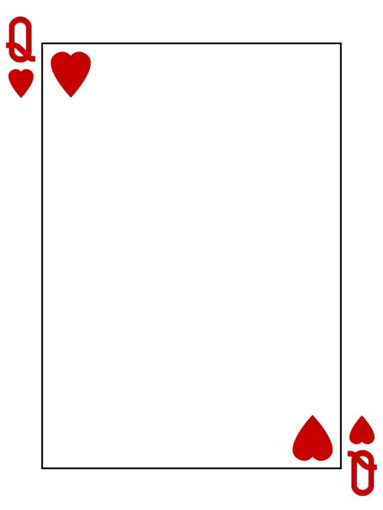 queen of hearts card template - photo #2