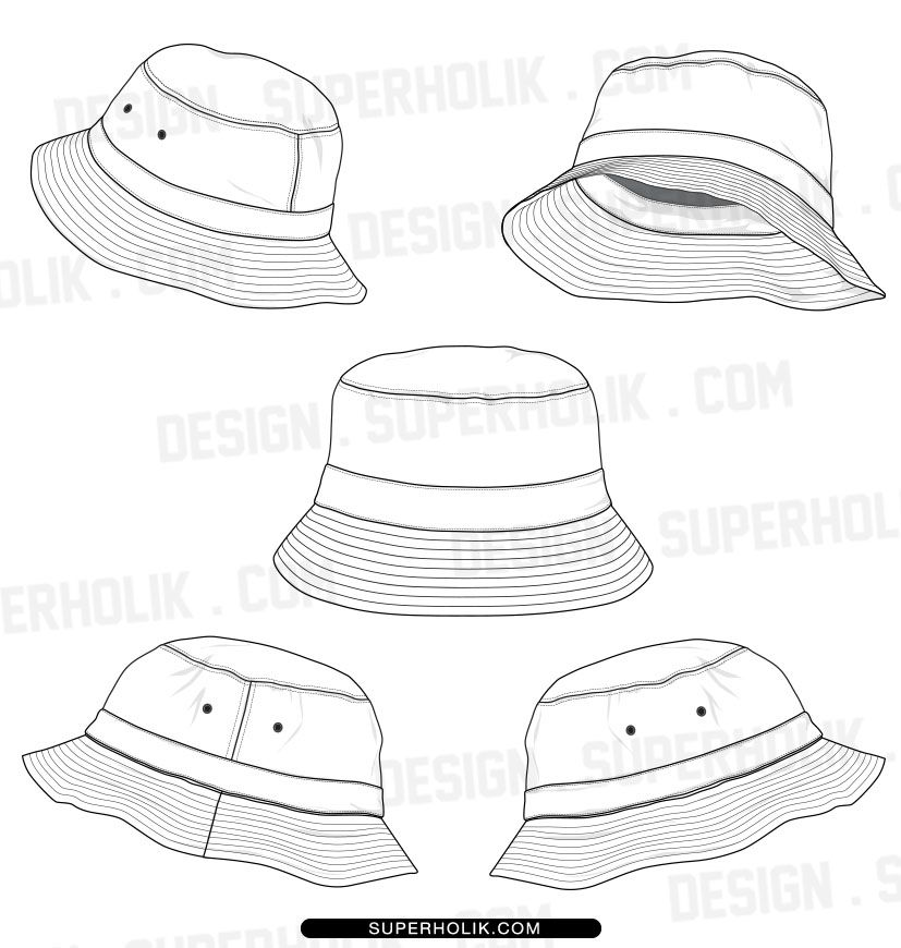 bucket hat template set product type digital download only file