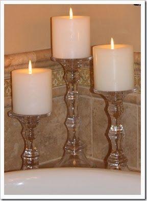 Master Bathroom Dollar Tree Candle Holders Dollar Tree