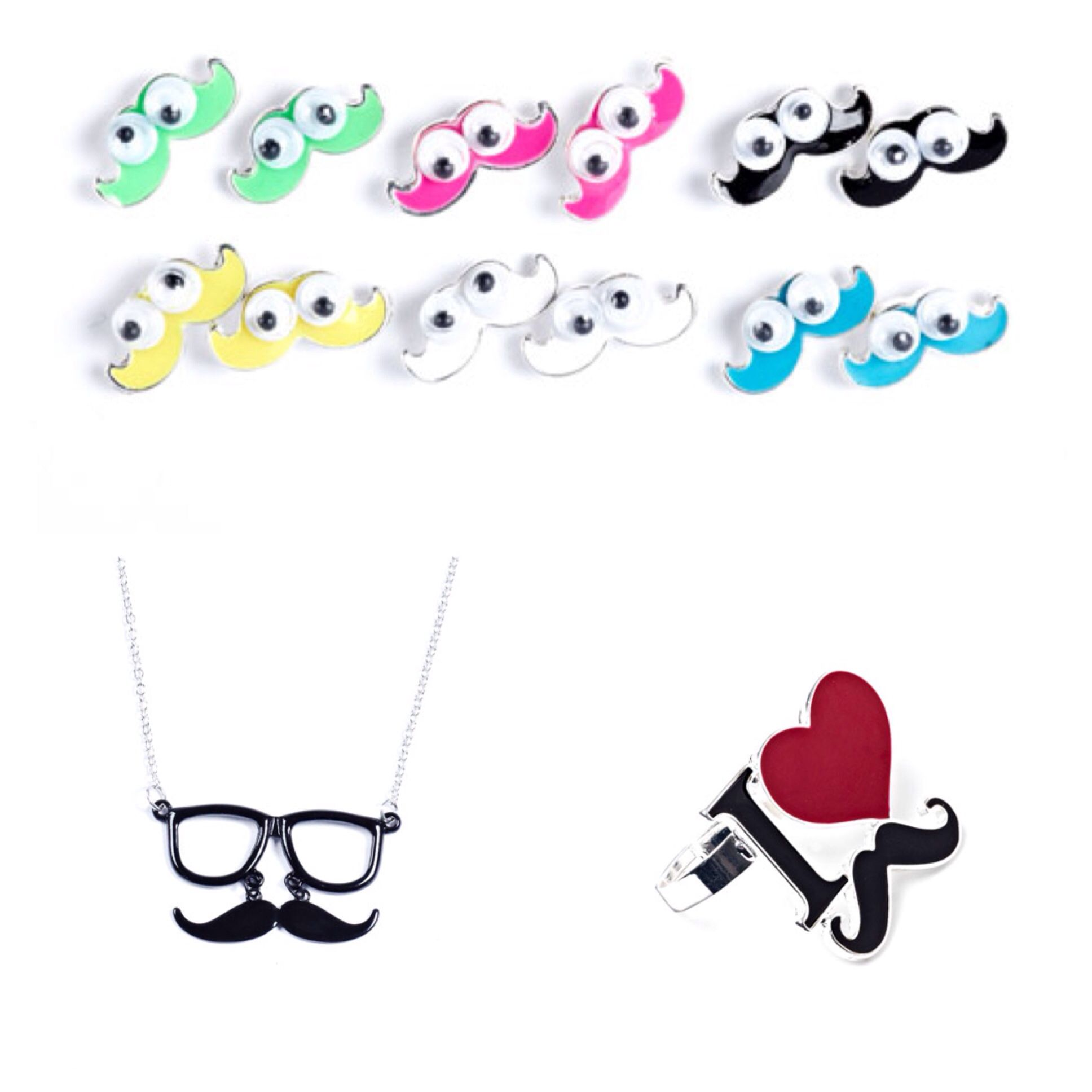 Moustache jewellery From clairs
