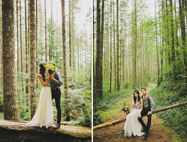 A Romantic Elopement In The Woods Laura Nick