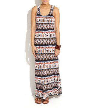 mizzumi tribal maxi dress