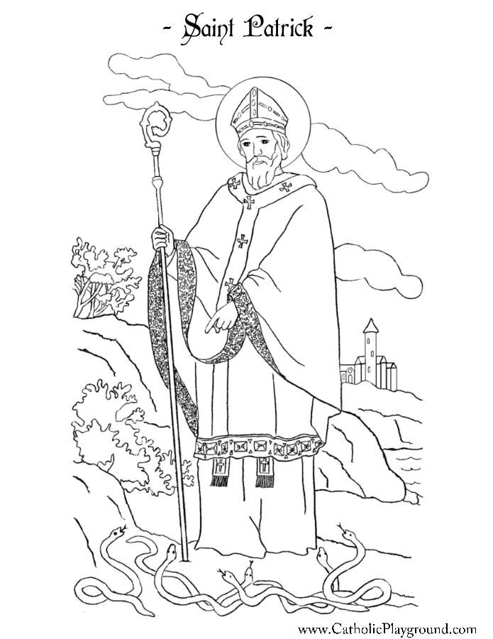 Saint Patrick Coloring Page Catholic Playground St Patricku0027s day - best of leprechaun coloring pages online