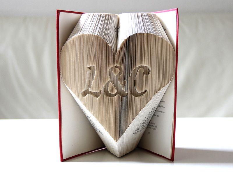 Gastgeschenke - Ich & Du im Herz ° gefaltetes Buch - ein Designerstück von KlausUndSo bei DaWanda