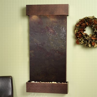 Adagio Fountains Whispering Creek Acrylic Wall Fountain With Light Finish Copper Vein Material Type Multi In 2020 Wall Fountain Water Feature Wall Tabletop Fountain