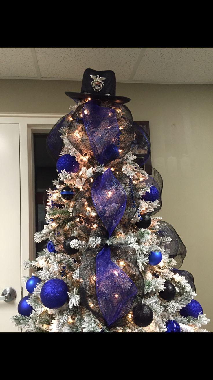 Thin blue line Christmas tree.