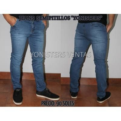 Pantalones Semi Pitillos Drill Strech Y Jeans Para Hombres S 80 00 Jeans Para Hombre Pitillos Pantalones