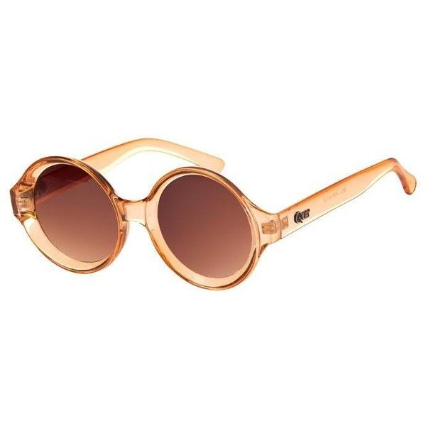 Quay Eyewear - Bellpop Sunglasses Fashion Exclusive Orange (2,400 INR) ❤ liked on Polyvore featuring accessories, eyewear, sunglasses, glasses, peach, uv protection sunglasses, mirrored lens sunglasses, stainless steel glasses, round lens sunglasses and quay eyewear