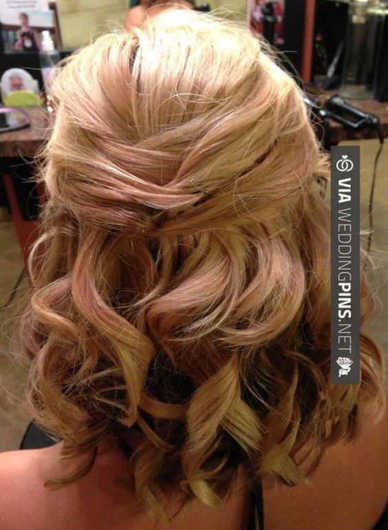 wedding hairstyles for short hair Bridal updo for short or medium ...