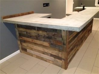 Custom made bar with old pallet wood. | Home, Pallet ...