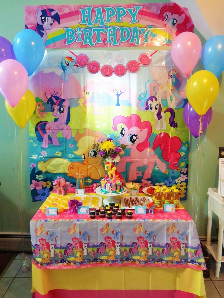 My Little Pony Birthday Party Ideas Decorations Inspiration Graphic